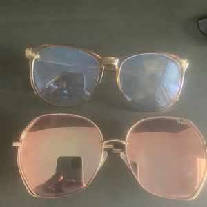 Quay pink sunnies plus bonus clear shades